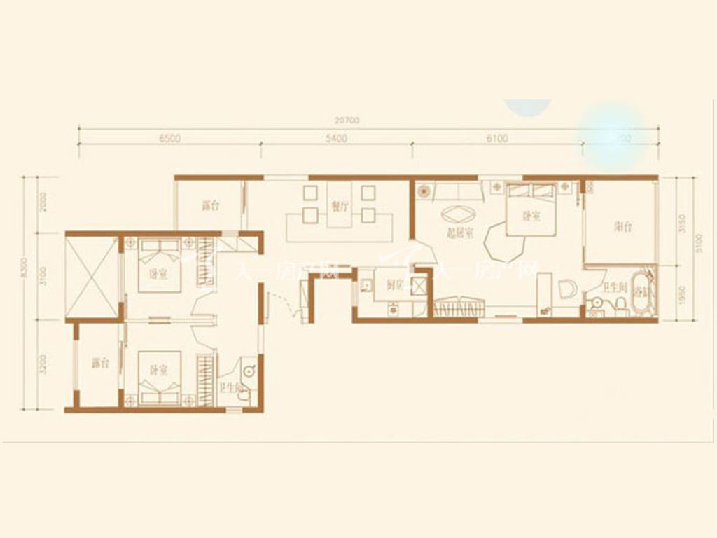 F1S户型3室2厅2卫1厨建筑面积129.91㎡.jpg