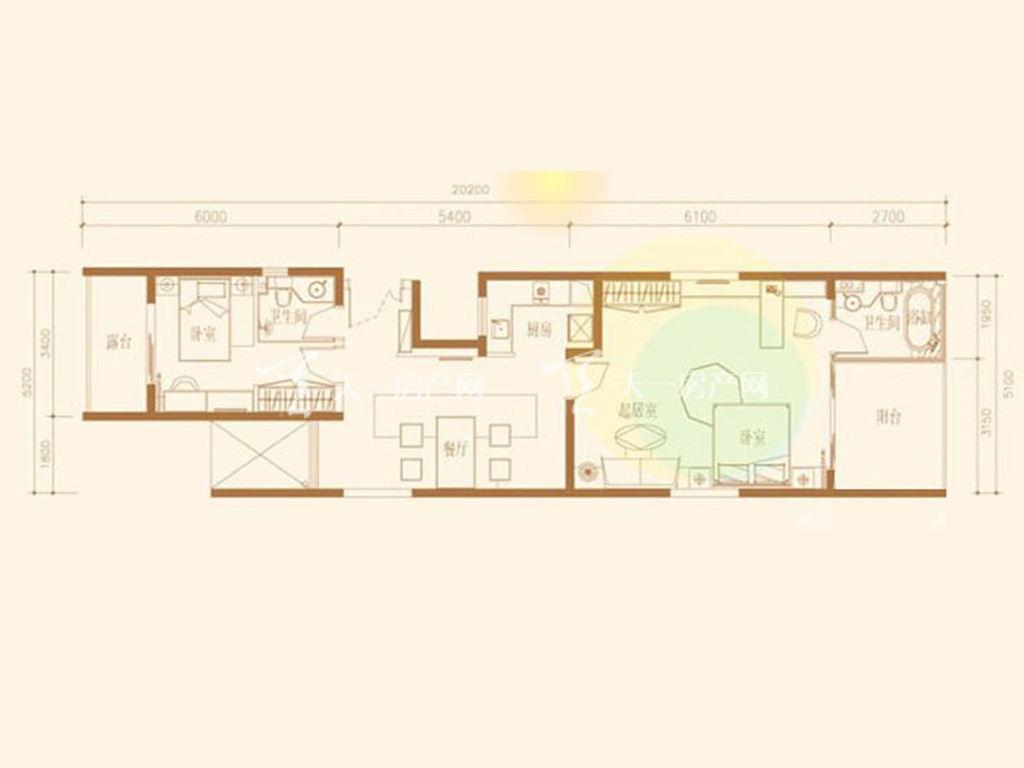 F7D户型2室2厅2卫1厨建筑面积107.06㎡.jpg