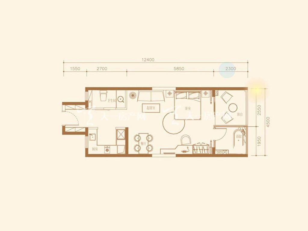 B2户型1室1厅1卫1厨建筑面积65.18㎡.jpg