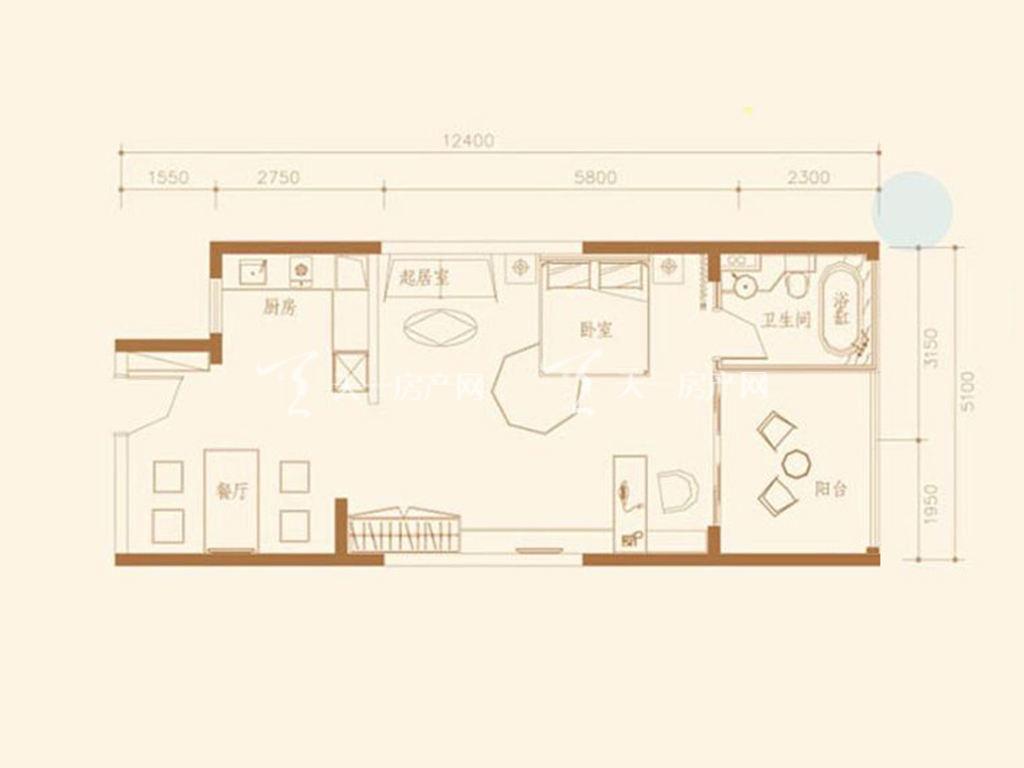 G2户型1室1厅1卫1厨建筑面积73.61㎡.jpg